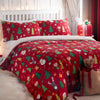 Elf & Santa - Easy Care Duvet Cover Set in Multi - By Bedlam Christmas