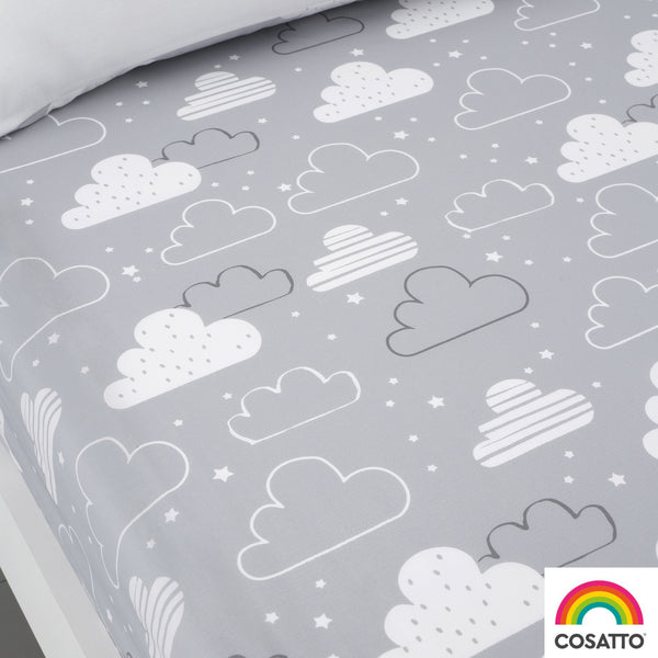 Fairy Clouds - Twin Pack 100% Cotton Fitted Sheets - Cosatto