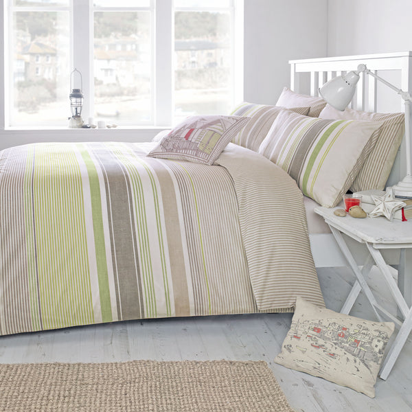 Falmouth	Green - Easy Care Bedding - by Dreams & Drapes