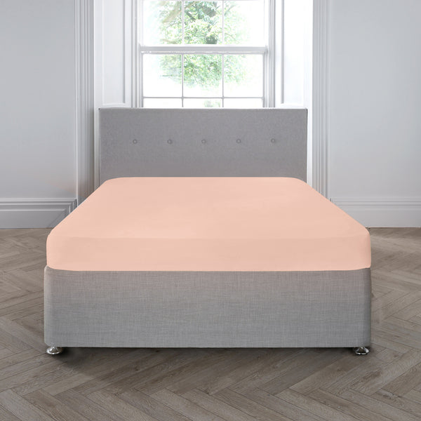 200TC Plain Dye 28cm Fitted Sheet -  by Appletree