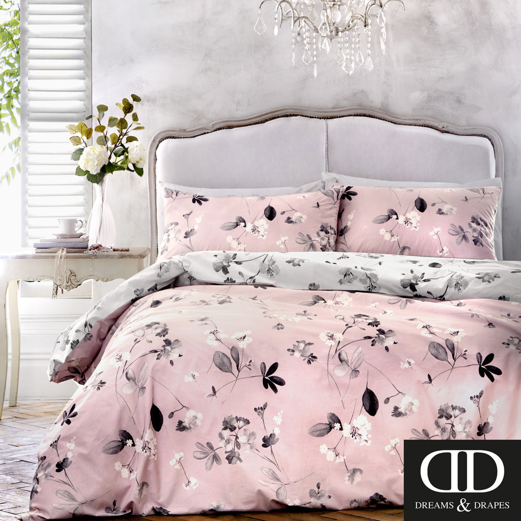 Grace Pink -floral Easy Care Bedding - by Dreams & Drapes