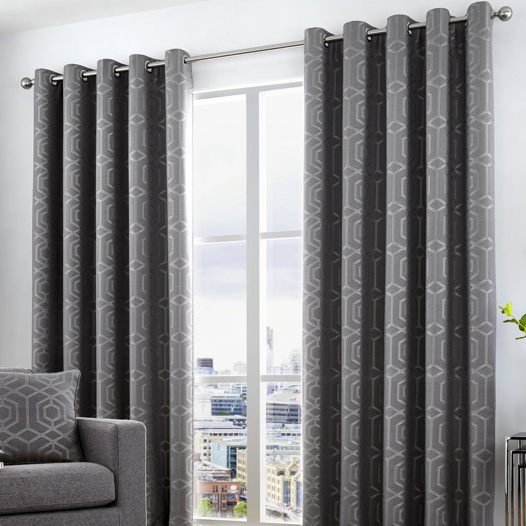 Camberwell - Eyelet Curtains in Graphite