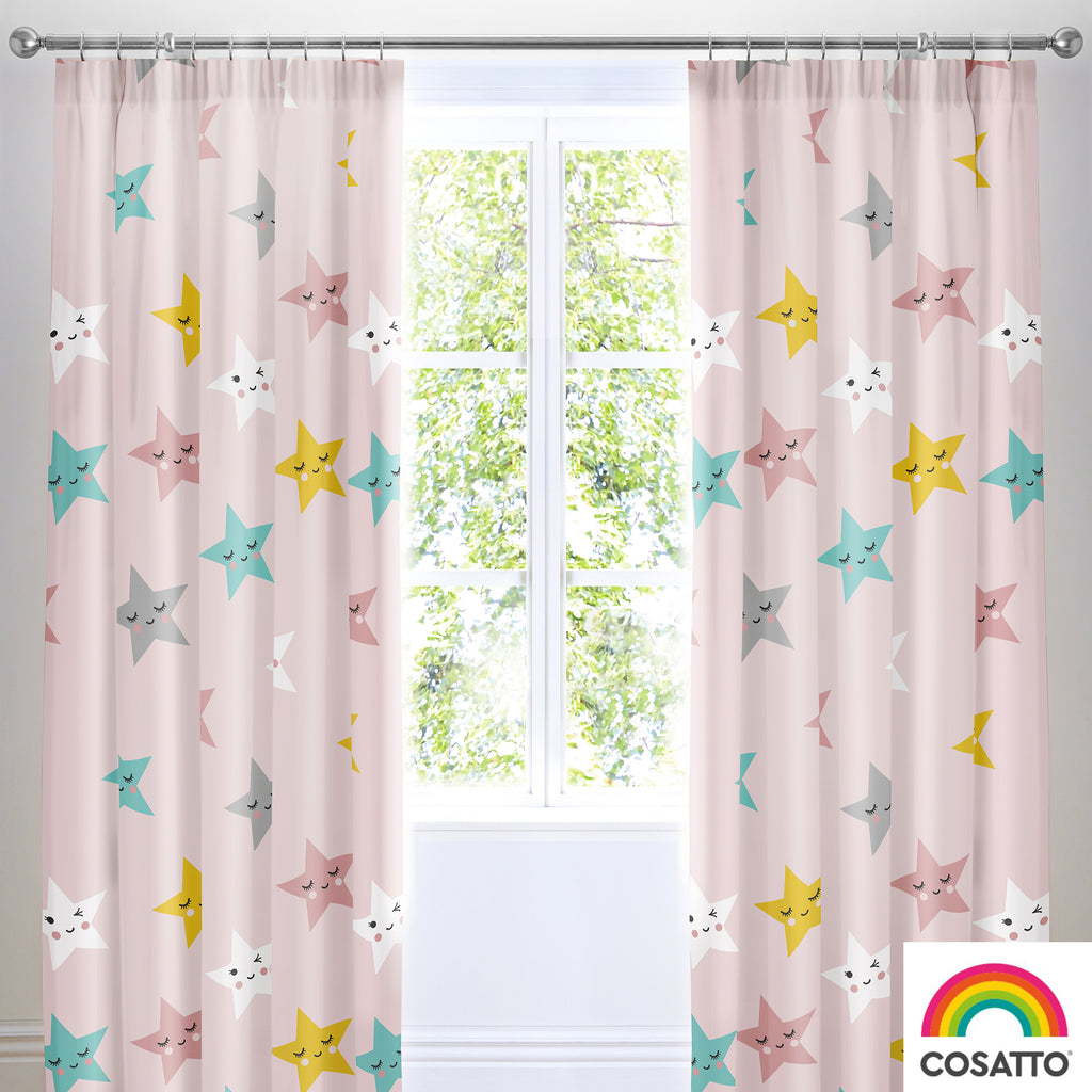Happy Stars - 100% Cotton Duvet Set & Curtains - Cosatto