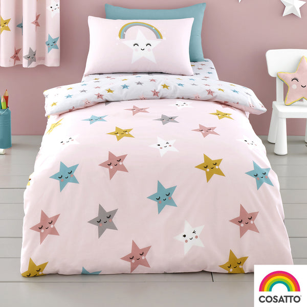 Happy Stars - 100% Cotton Duvet Set / Curtains - by Cosatto