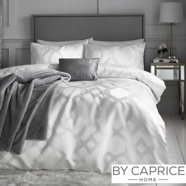 Harlow - Ivory Duvet Cover Set - By Caprice Home
