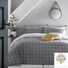 Harvard Check - 100% Cotton Duvet Cover Set in Grey by Appletree