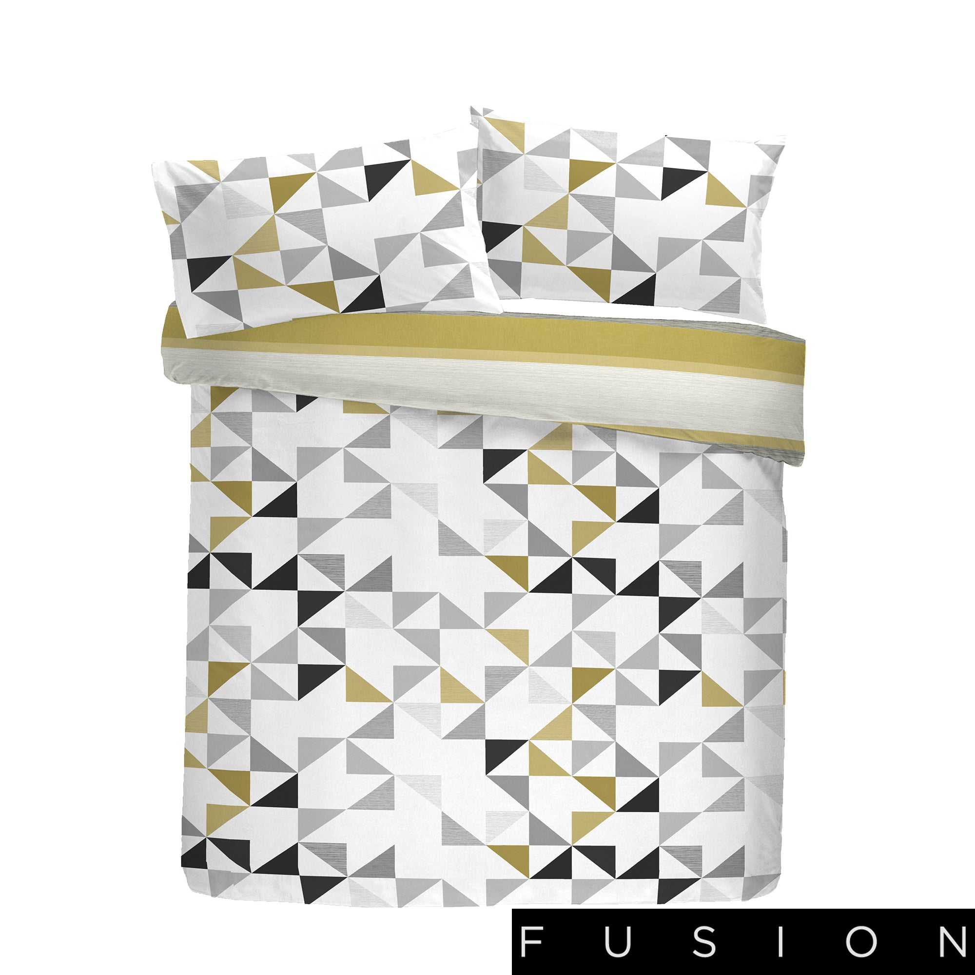 Hendra Ochre - Easy Care Duvet Cover Set - By Fusion