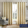 Houston - Jacquard Eyelet Curtains in Natural- By Curtina