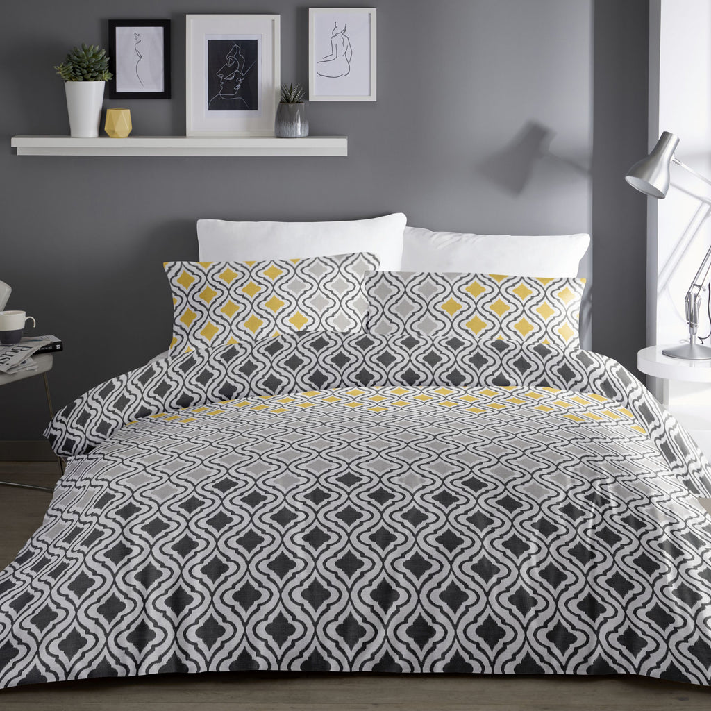 Ikat Grey - Easy Care Bedding - by Dreams & Drapes