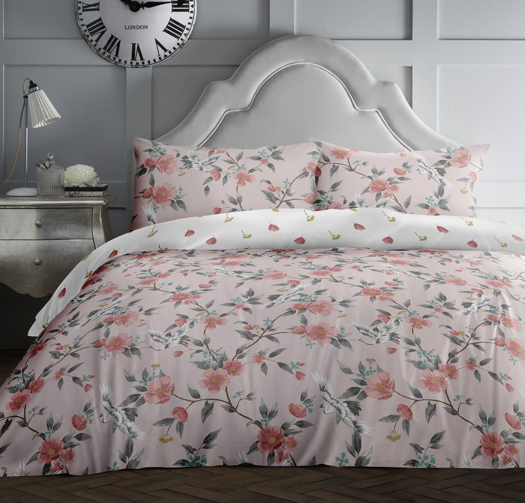 Kaiya - 100% Cotton Duvet Cover Set in Blush- by Appletree