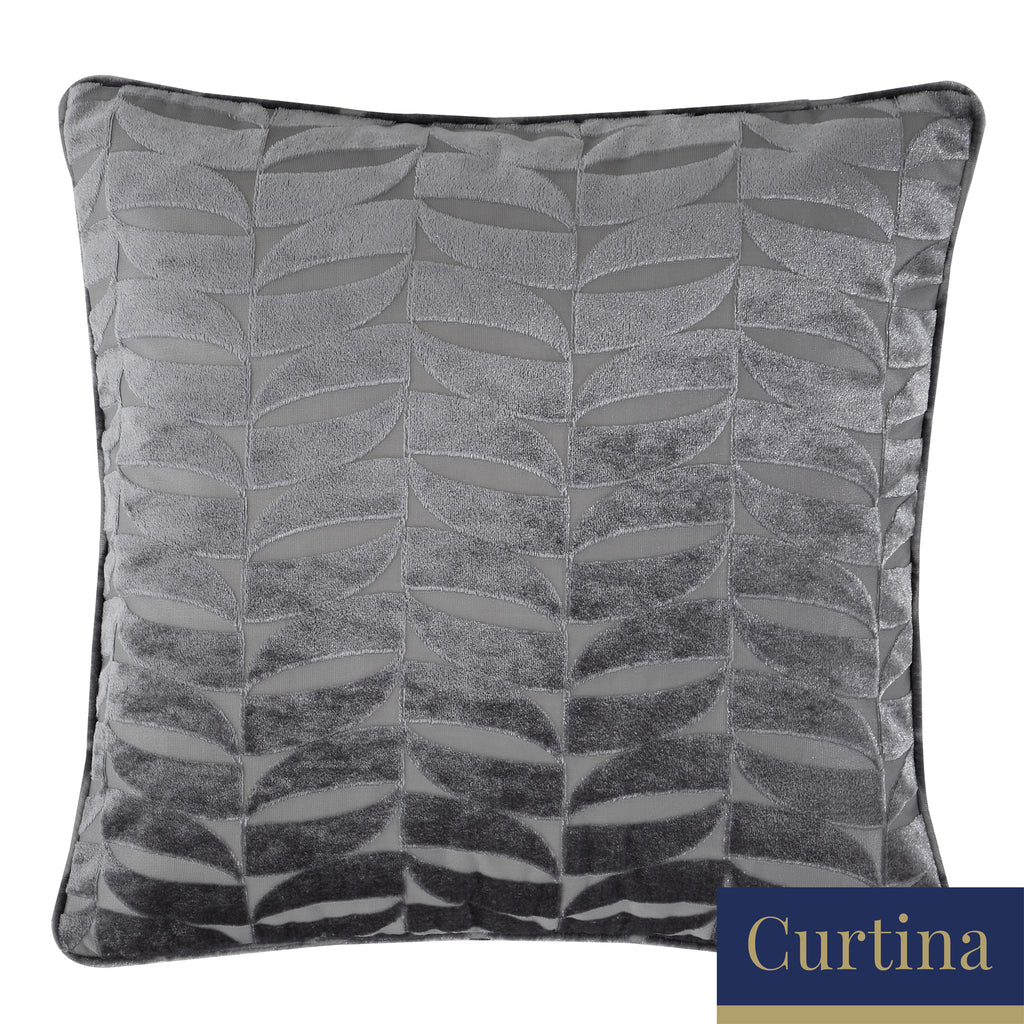 Kendal - Geometric Jacquard Filled Square Cushion - by Curtina