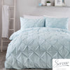 Lara - 144 TC Pleated Duvet Cover Set in Duck Egg - by Serene