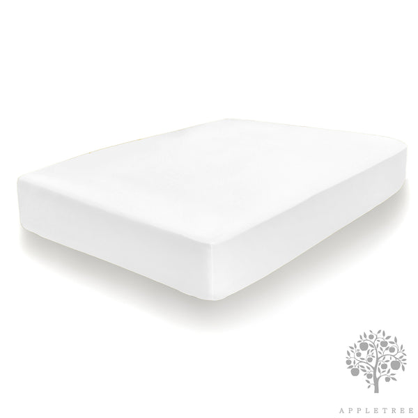 Lavender Infused - 100% Cotton Fitted Sheets & Pillowcases in White - by Appletree Signature