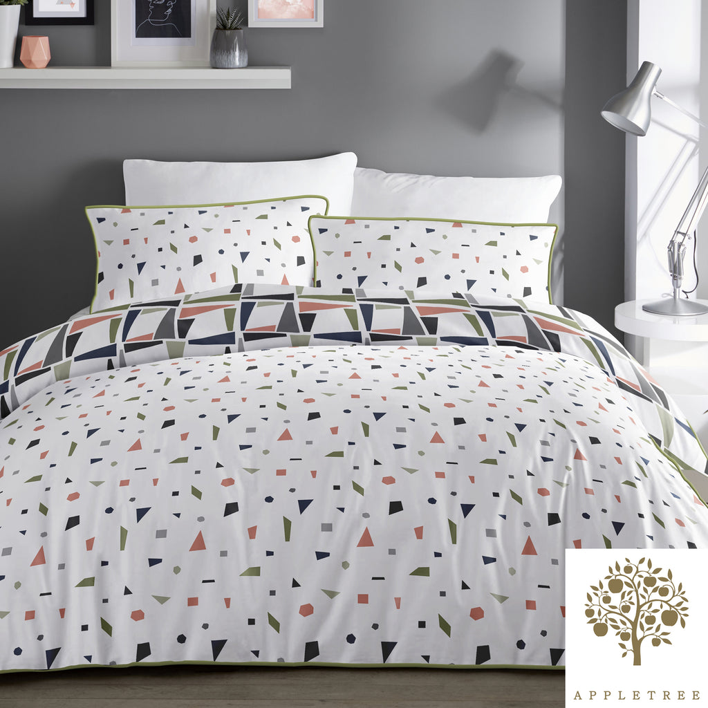Layton - 100% Cotton Duvet Cover Set in Multi - by Appletree
