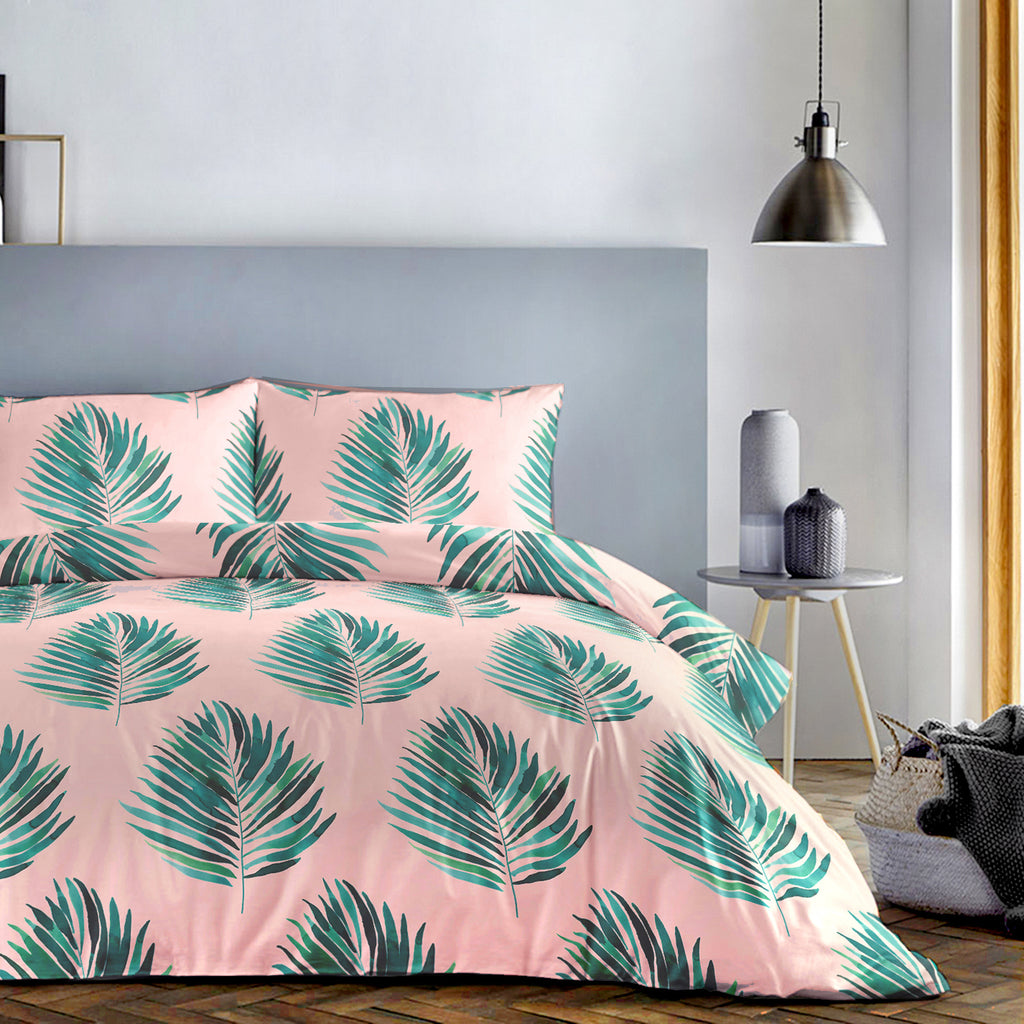 Leaves Green - Easy Care Duvet Cover Set - By Fusion
