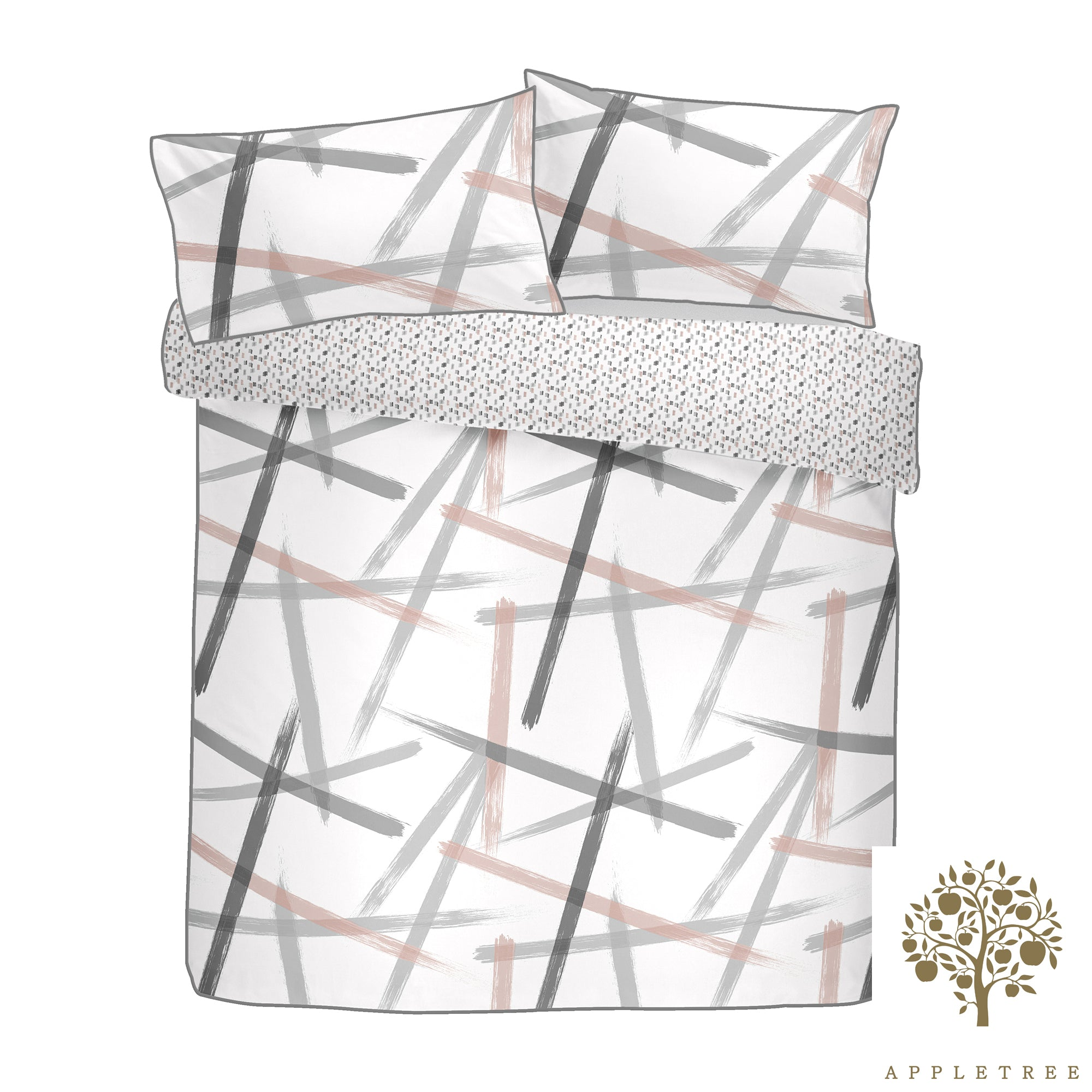 Leda - 100% Cotton Duvet Cover Set in Blush -  by Appletree Style