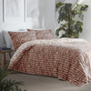 Loft - 180 TC Percale Duvet Cover Set in Terracotta - by Appletree