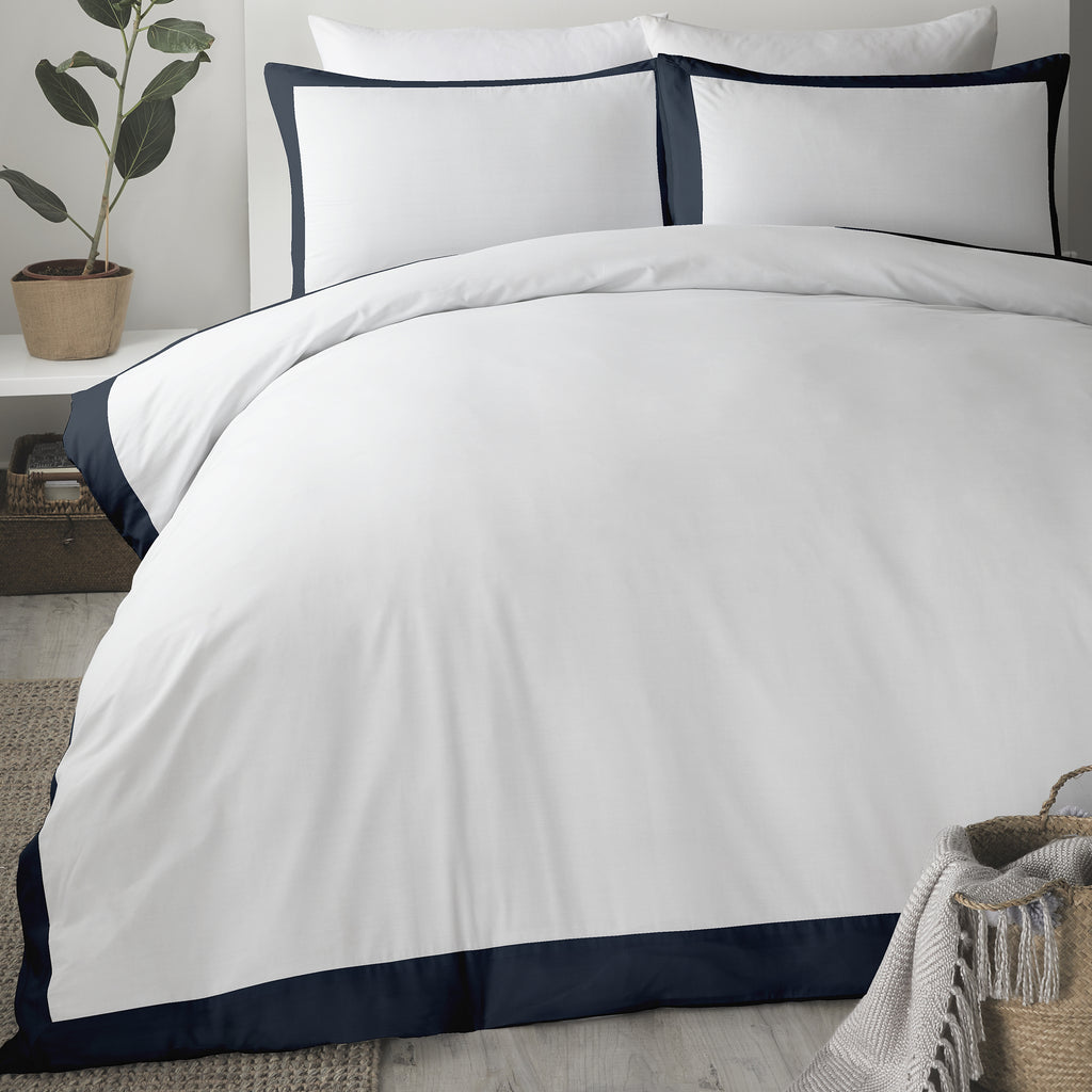 Madison - Easy Care Duvet Cover Set in Navy - by Serene