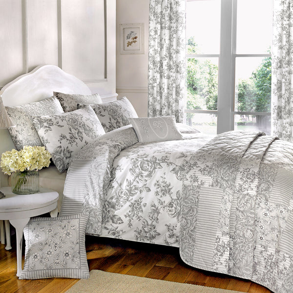 Malton Slate - Easy Care  Bedding & Curtains - by Dreams & Drapes