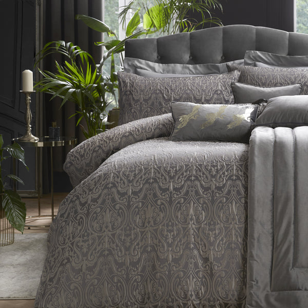 Masque - Jacquard Duvet Cover Set by Laurence Llewelyn-Bowen