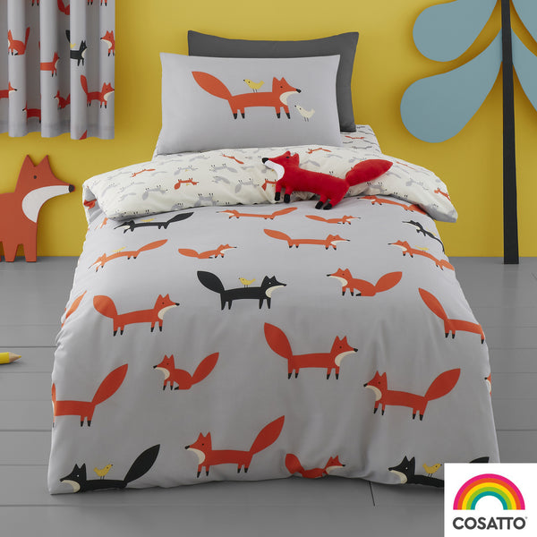 Mister Fox - 100% Cotton Duvet Set / Curtains - by Cosatto