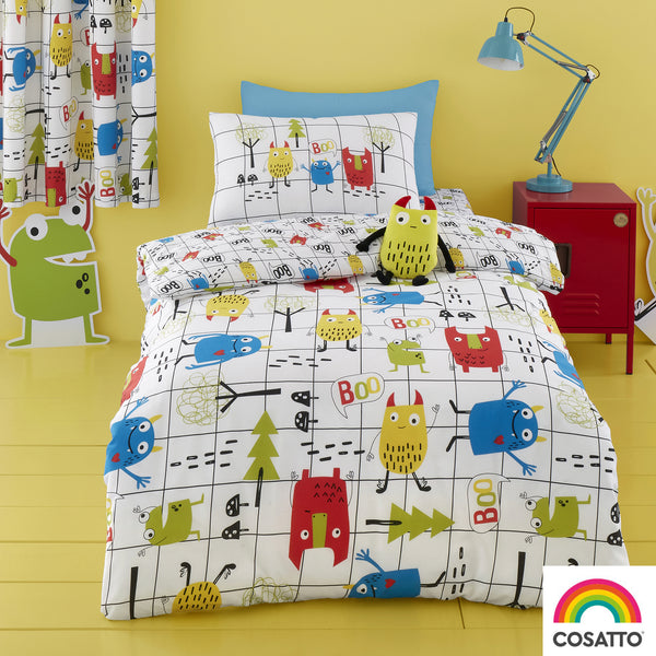 Monster Mob - 100% Cotton Duvet Set & Curtains - Cosatto