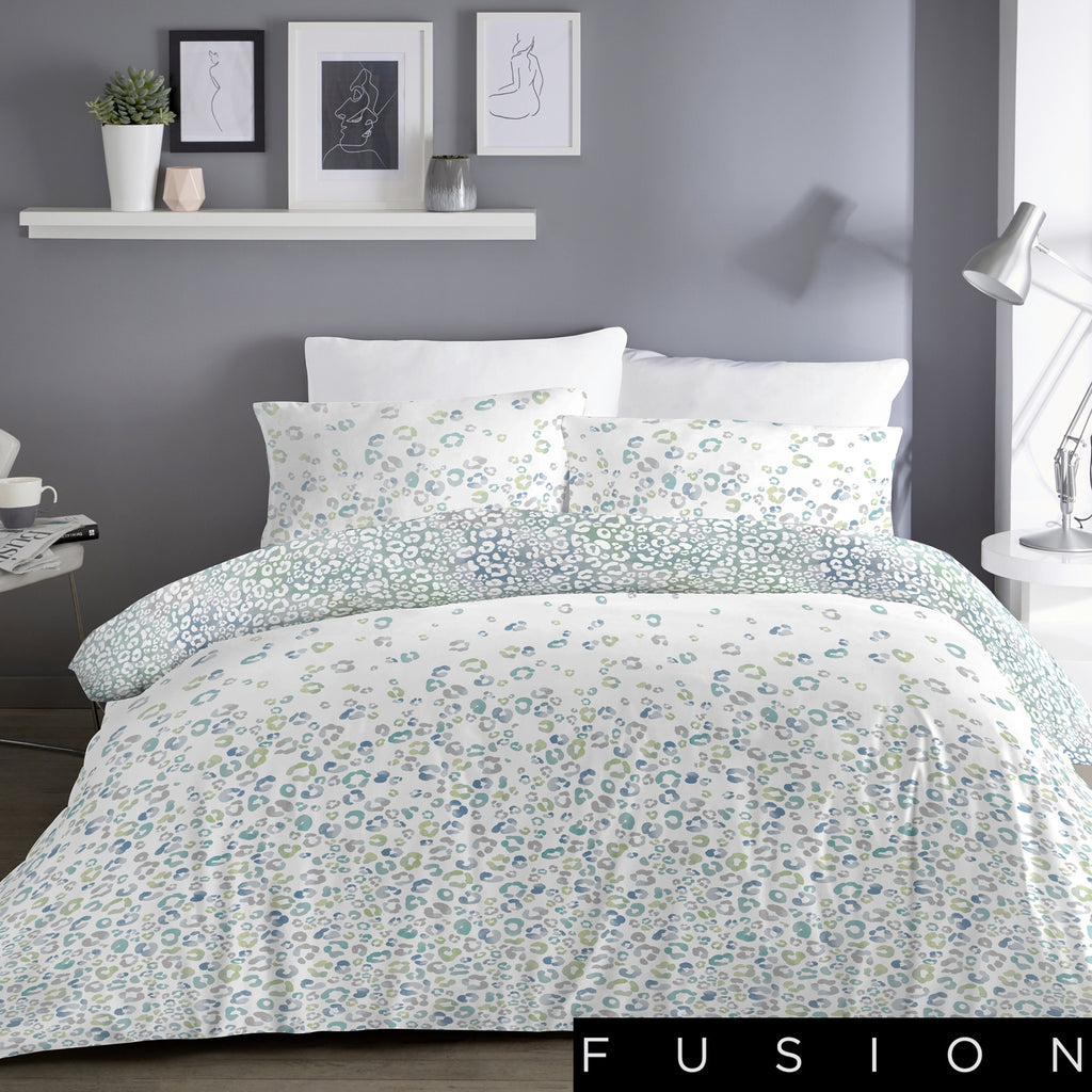 Ombre Leopard Blue - Easy Care Duvet Cover Set - By Fusion