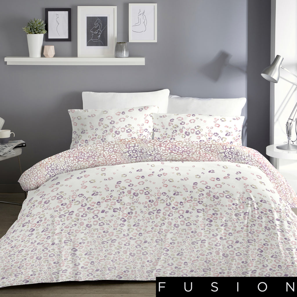 Ombre Leopard Blush - Easy Care Duvet Cover Set - By Fusion