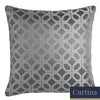 Oriental Squares - Geometric	Metallic Jacquard  Filled Square Cushion - by Curtina