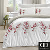 Oriental Flower - Easy Care Bedding in Red - by Dreams & Drapes
