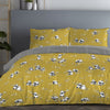 Panda - Easy Care Duvet Cover Set in Ochre Yellow - By Fusion