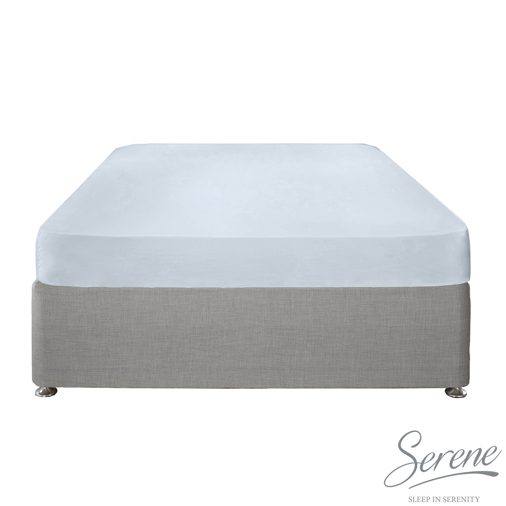 Plain Dye Easy Care Duvet Covers, Fitted Sheets & Pillowcases in Duck Egg - by Serene