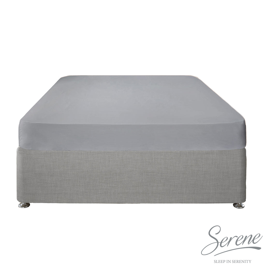 Plain Dye Easy Care Duvet Covers, Fitted Sheets & Pillowcases in Grey - by Serene