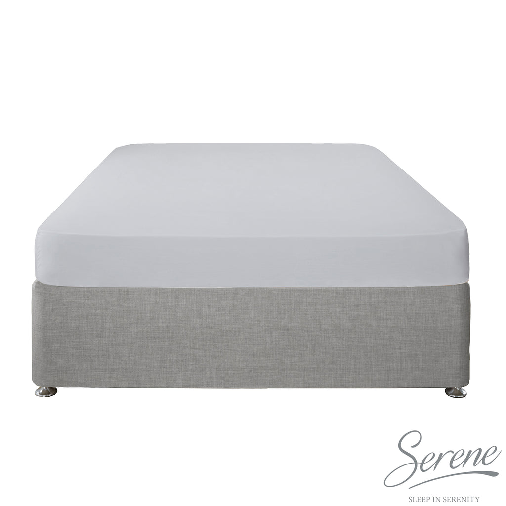 Plain Dye Easy Care Duvet Covers, Fitted Sheets & Pillowcases in Silver - by Serene