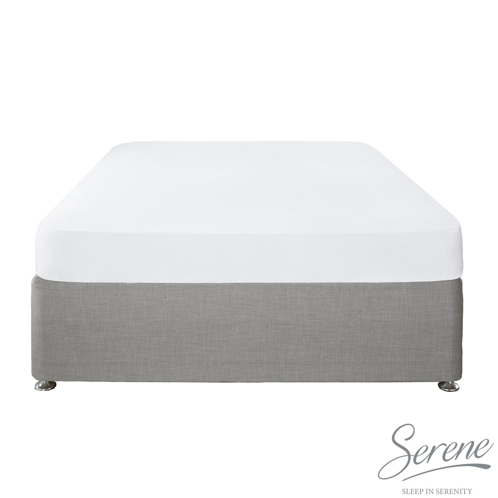 Plain Dye Easy Care Duvet Covers, Fitted Sheets & Pillowcases in White - by Serene