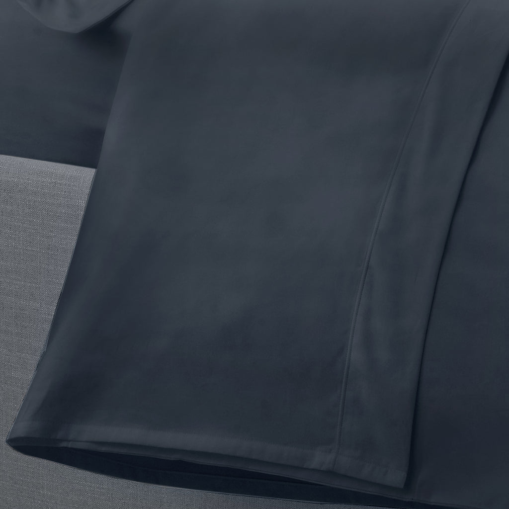 Plain Dye 200 TC Percale Flat Sheet - in Navy by Appletree