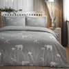 Polar Bear Play - Easy Care Christmas Duvet Cover Set in Grey - By Fusion Christmas