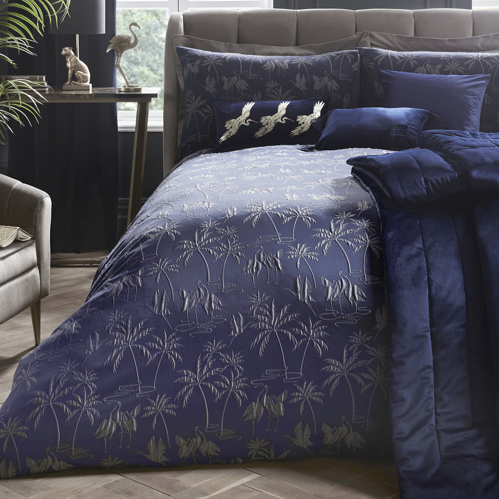 Qing - Jacquard Duvet Cover Set by Laurence Llewelyn-Bowen