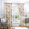 Jeannie - Pair of Pencil Pleat Curtains in Red- by Fusion