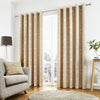 Sagano - Lined Eyelet Curtains in Natural