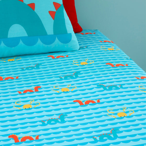 Sea Monsters - 100% Cotton Fitted Sheets by Cosatto