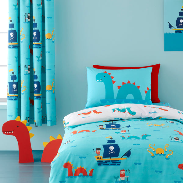 Sea Monsters - 100% Cotton Children's Duvet Set & Curtains by Cosatto