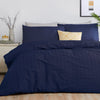 Seersucker - Easy Care Duvet Cover Set in Navy - by Serene
