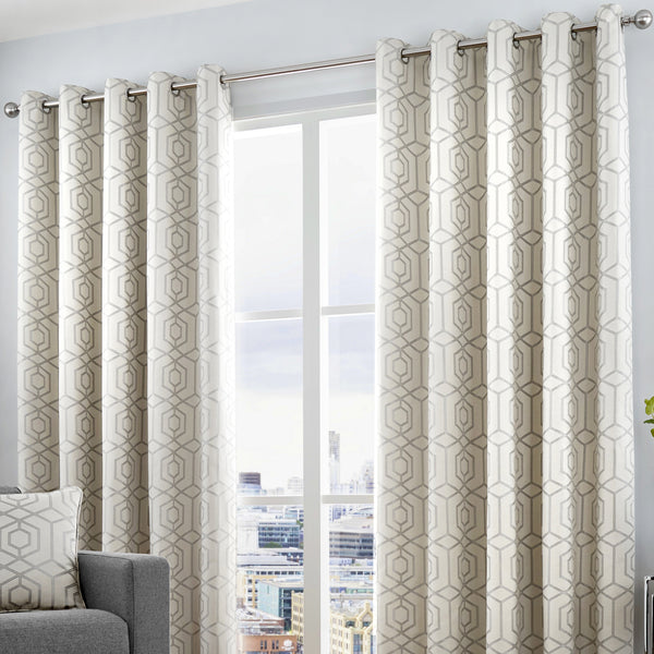 Camberwell - Eyelet Curtains in Silver