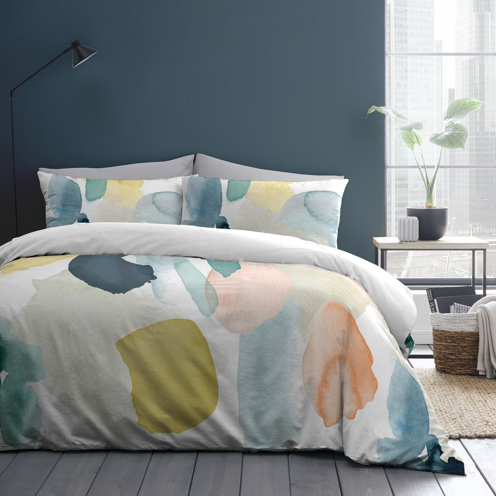 Solice - 100% Cotton Duvet Cover Set in Multi by Appletree Style