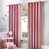 Sorbonne - 100% Cotton Pair of Eyelet Curtains in Blush - by Fusion