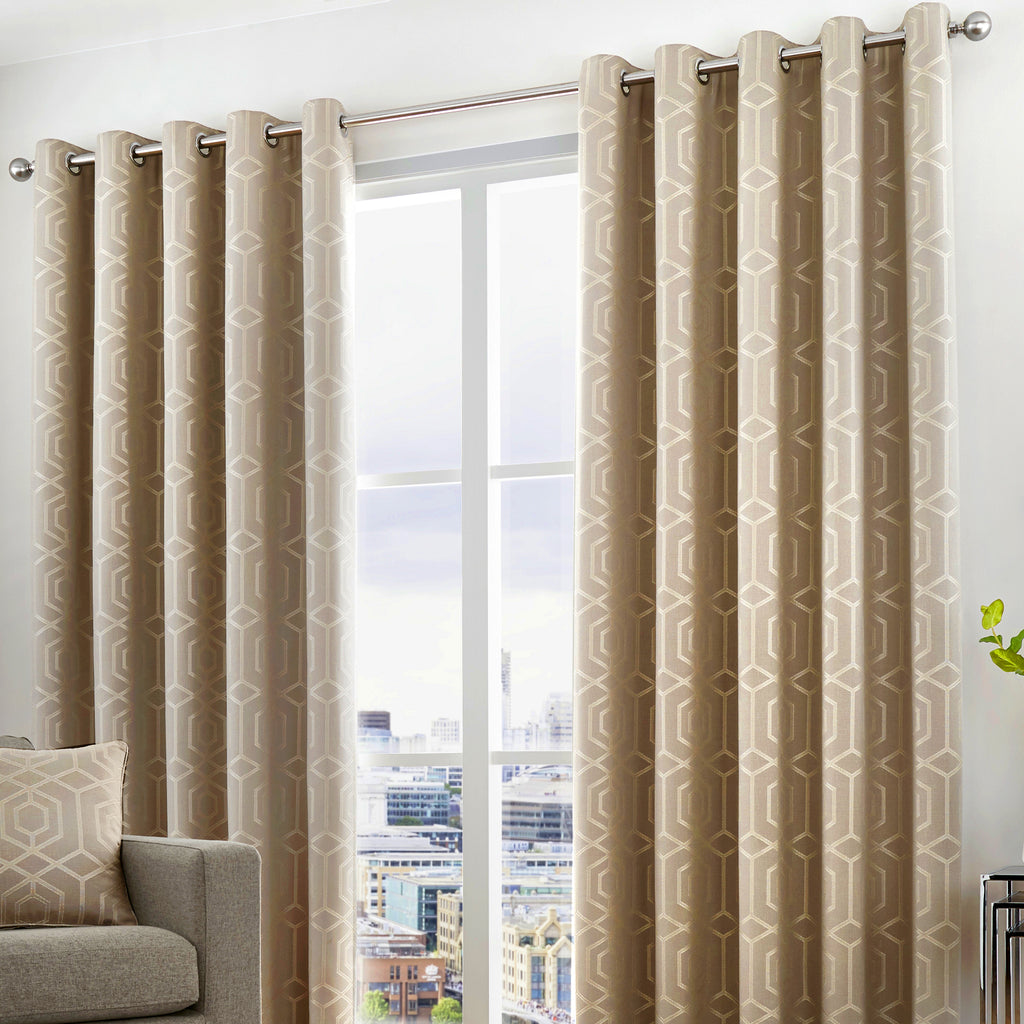 Camberwell - Eyelet Curtains in Stone