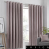 Strata - Blockout Eyelet Curtains in Blush - by Fusion