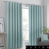 Strata - Blockout Eyelet Curtains in Duck Egg - by Fusion