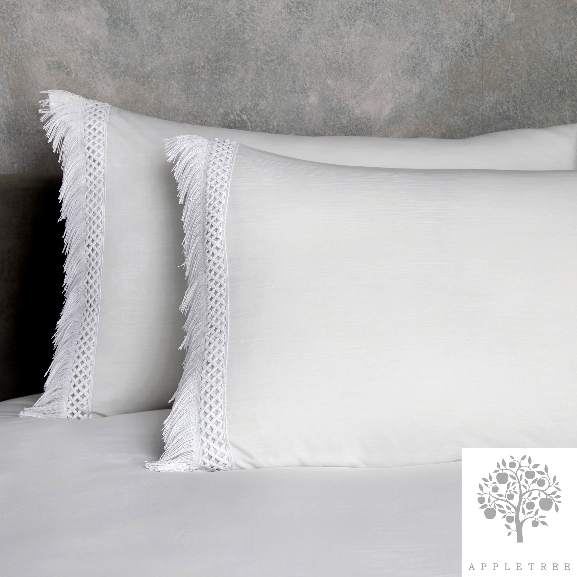 Tasha - 100% Cotton Duvet Cover Set in White by Appletree Boutique